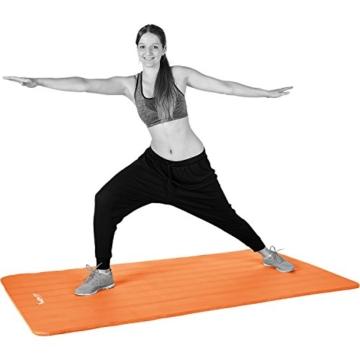 MOVIT Pilates Gymnastikmatte, Yogamatte, phthalatfrei, SGS geprüft, L 190cm x B 60cm, Stärke 1,5cm, Orange - 3