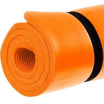 MOVIT Pilates Gymnastikmatte, Yogamatte, phthalatfrei, SGS geprüft, L 190cm x B 60cm, Stärke 1,5cm, Orange - 4