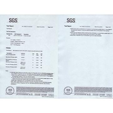 MOVIT Pilates Gymnastikmatte, Yogamatte, phthalatfrei, SGS geprüft, L 190cm x B 60cm, Stärke 1,5cm, Orange - 6
