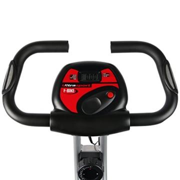 Ultrasport Heimtrainer F-Bike mit Handpuls-Sensoren, klappbar - 3