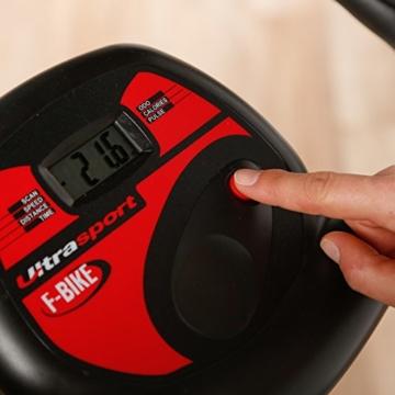 Ultrasport Heimtrainer F-Bike mit Handpuls-Sensoren, klappbar - 6